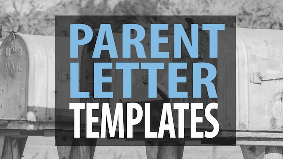 Parent Letter Templates image number null