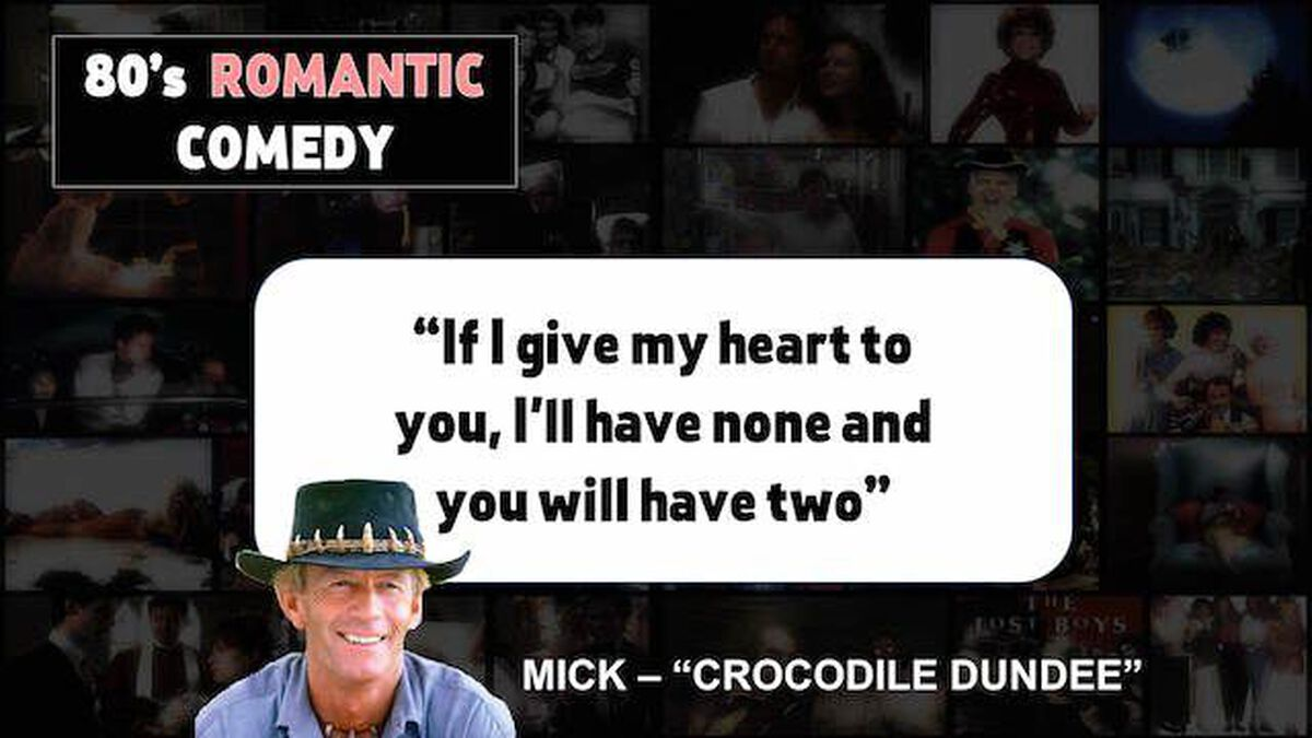 80's Romantic Comedy or Bruno Mars Lyric 2 image number null