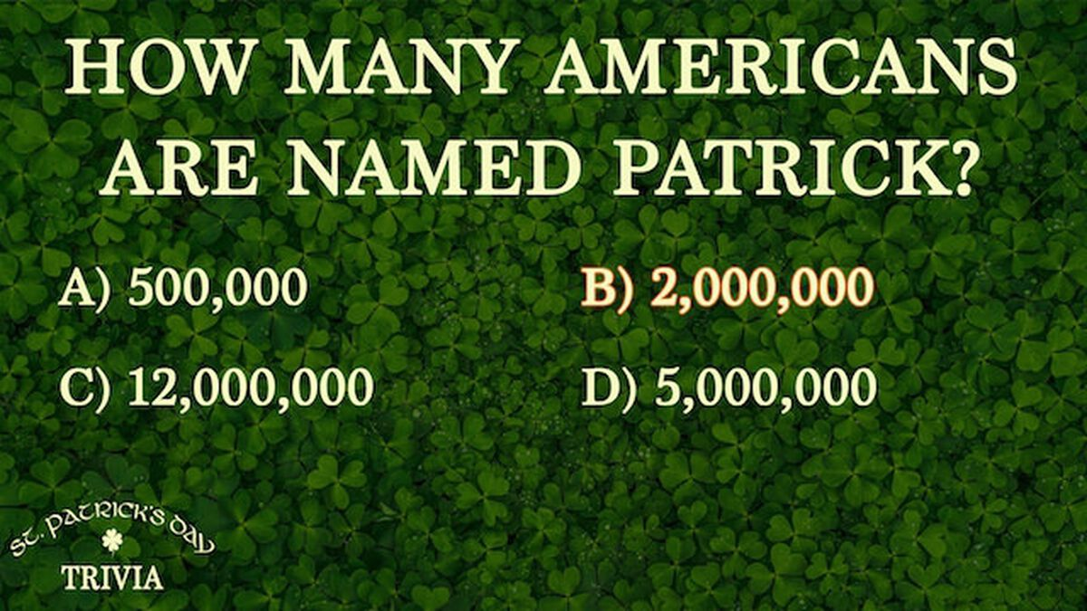 St. Patrick's Day Trivia image number null