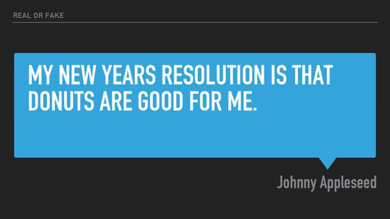 Real Or Fake New Years Resolution Tweets