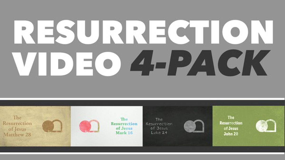 The Resurrection of Jesus Video 4-Pack image number null