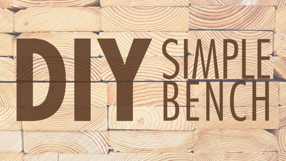 DIY: Simple Bench image number null