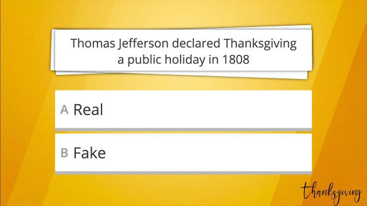 Real or Fake Thanksgiving Edition: Volume 2 image number null