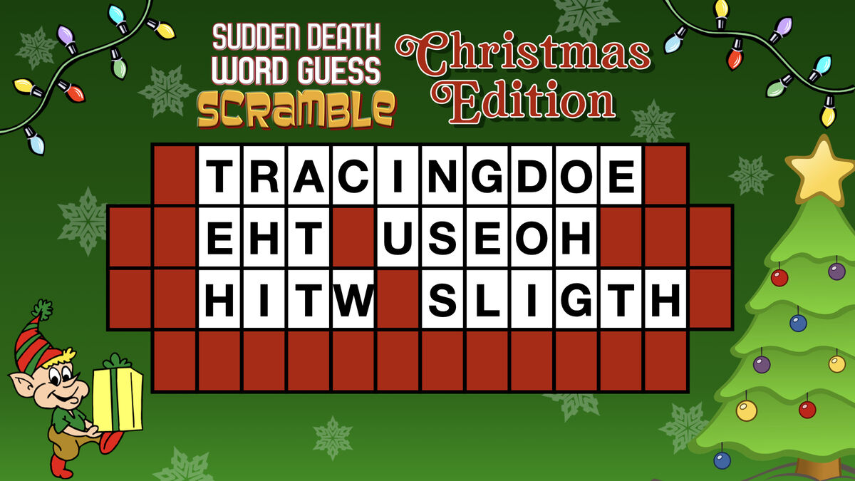 Sudden Death Word Guess Scramble Christmas Edition image number null