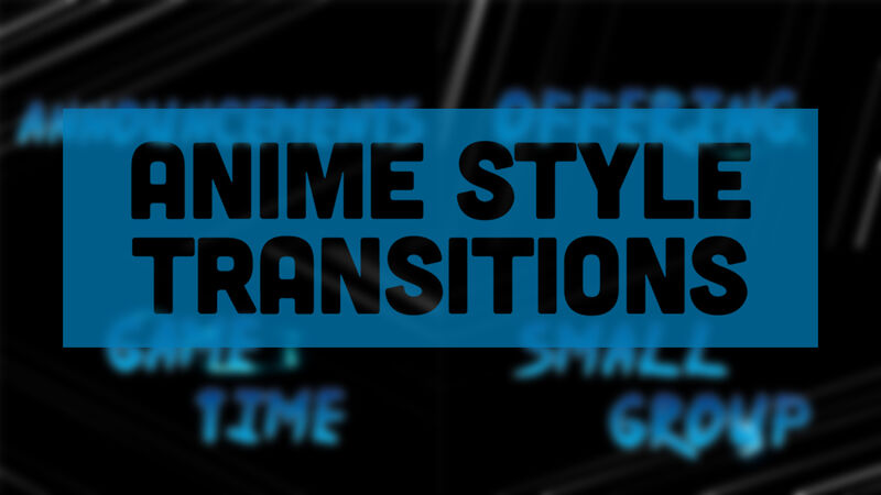 Anime Style Transition Videos