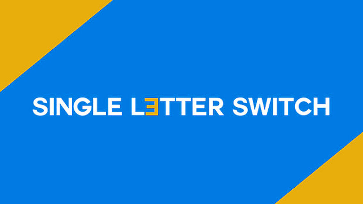 Single Letter Switch image number null