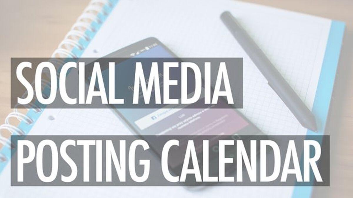 Social Media Posting Calendar image number null