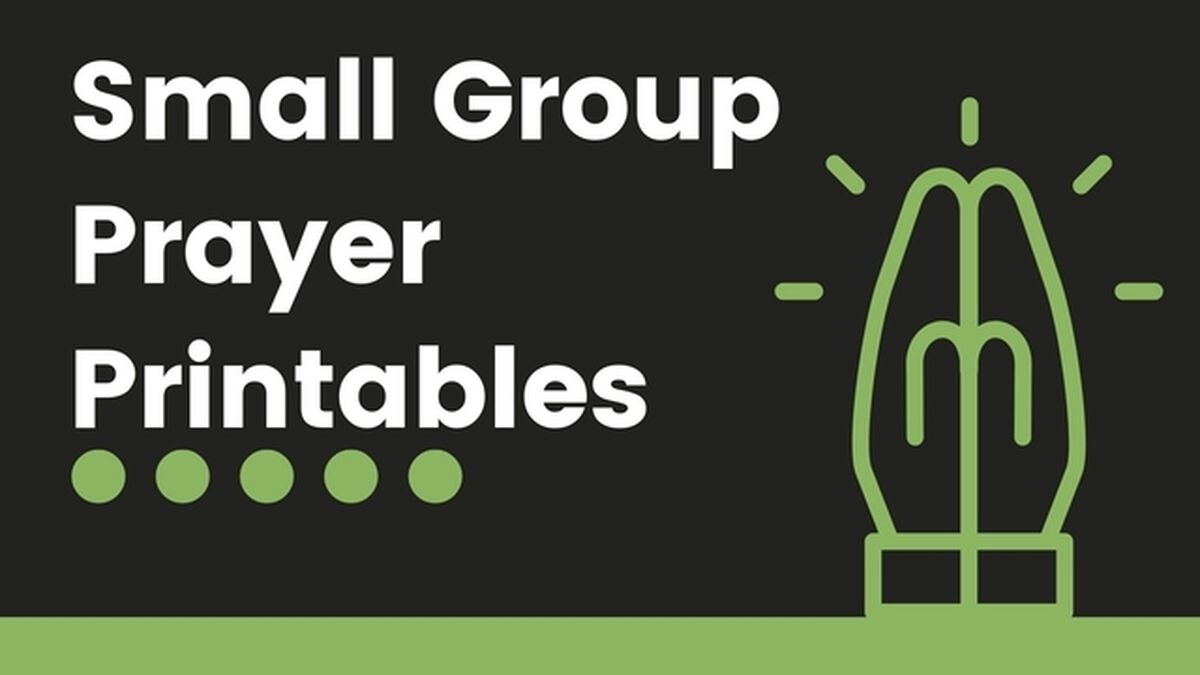 Small Group Prayer Printables image number null
