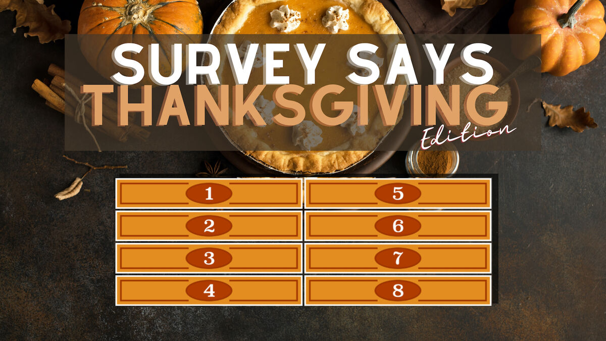Survey Says Thanksgiving Edition image number null