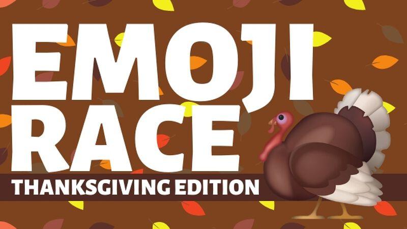Emoji Race Thanksgiving Edition