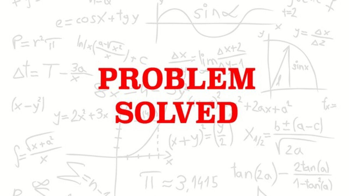 Problem Solved image number null
