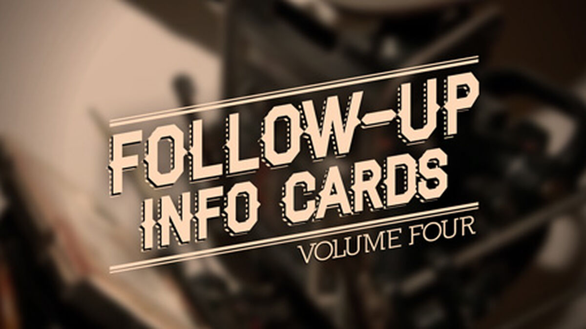 Follow Up Info Cards: Vol 4 image number null