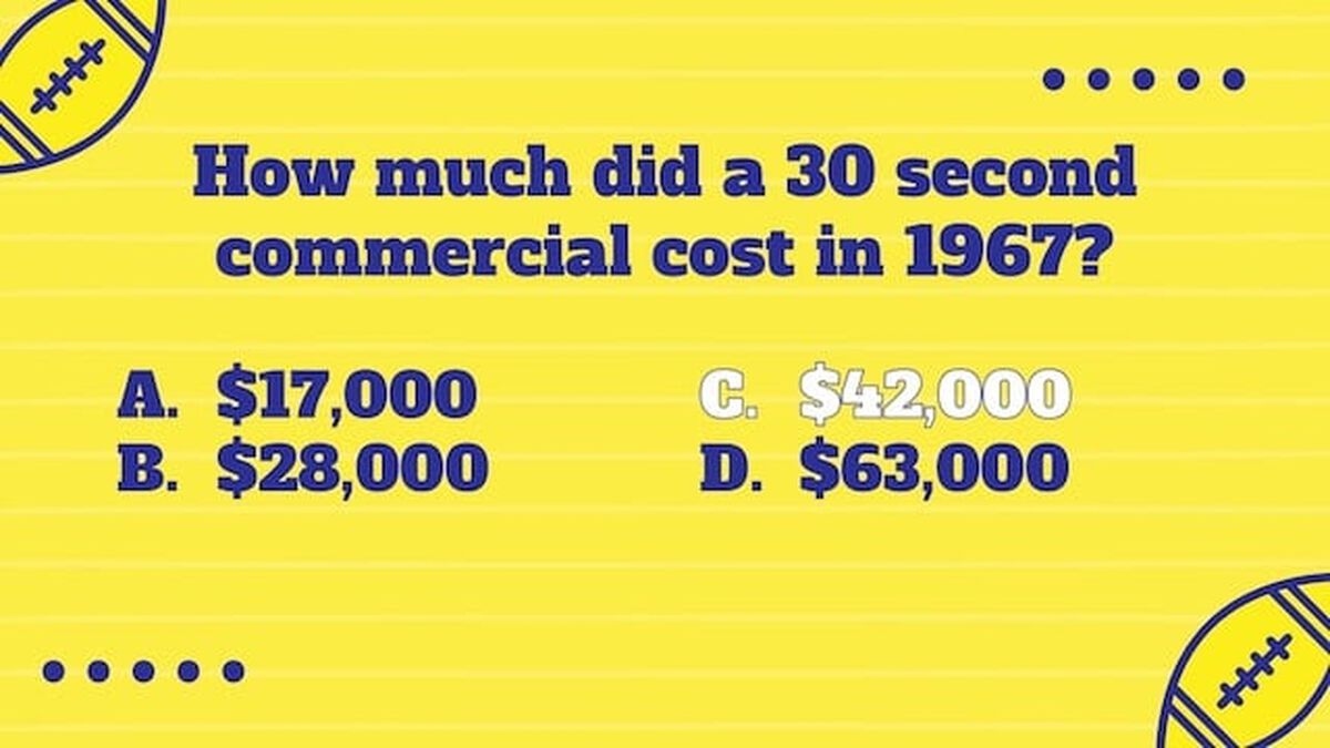 Big Game Commercial Trivia image number null