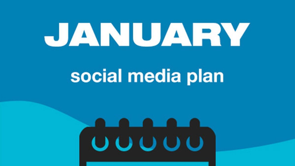 January Social Media Plan image number null