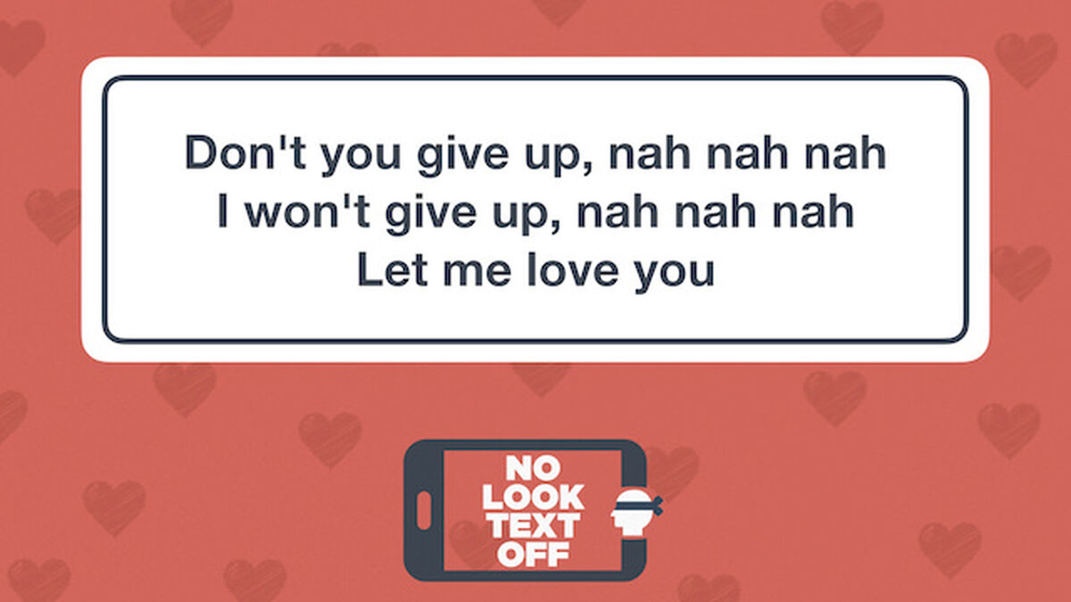 No Look Text Off - Love Songs image number null