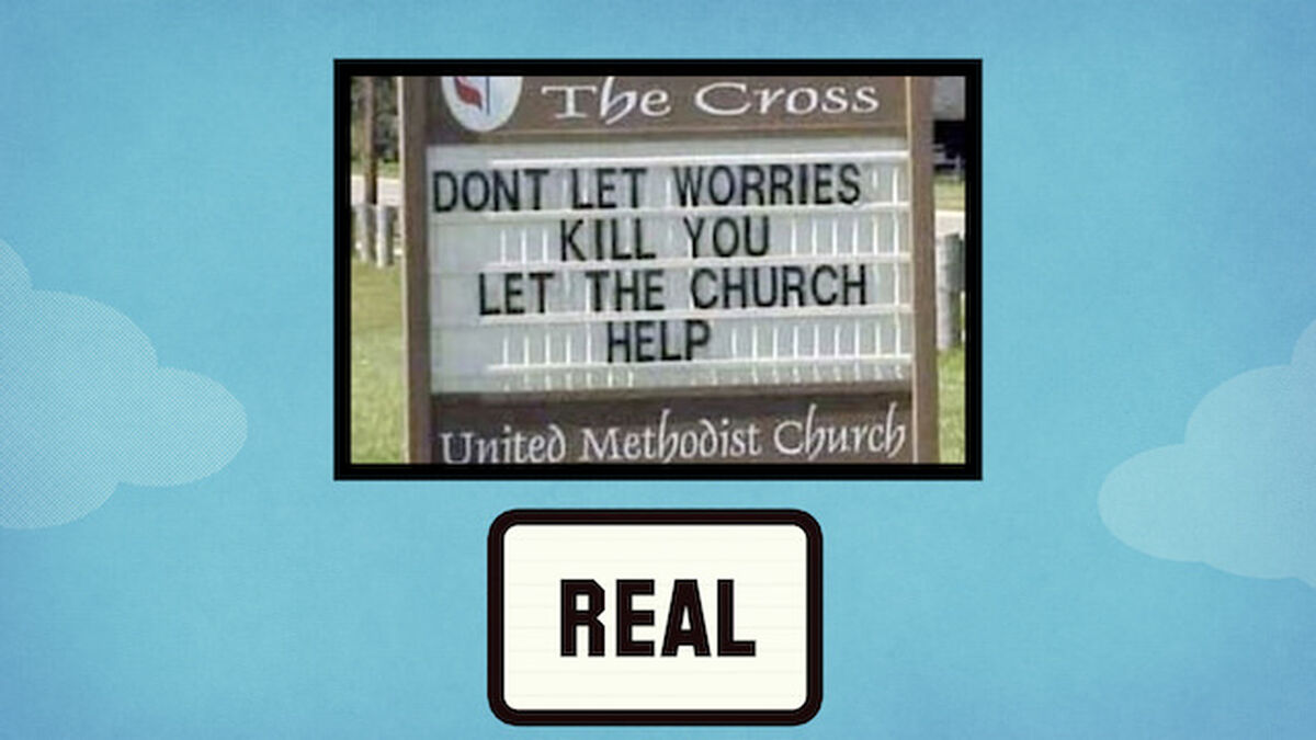 Church Signs: Real or Fake 2 image number null