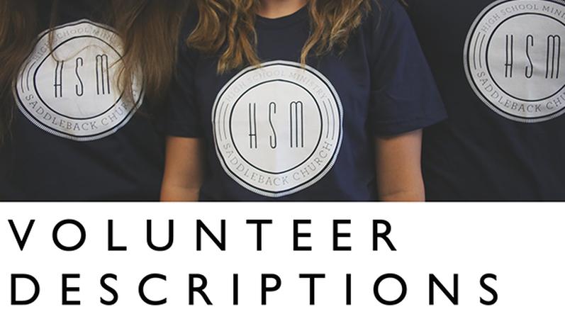 Volunteer Descriptions