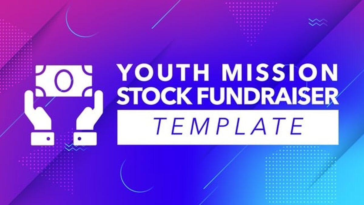 Youth Missions Stock Fundraising Template image number null