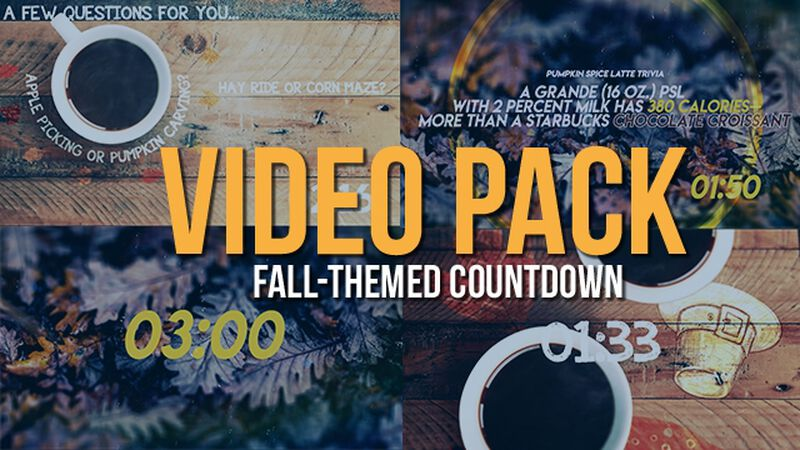 Fall-Themed Countdown Videos 2-Pack