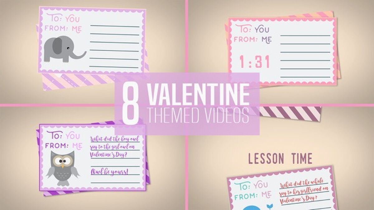 8 Valentine Themed Transition Videos image number null