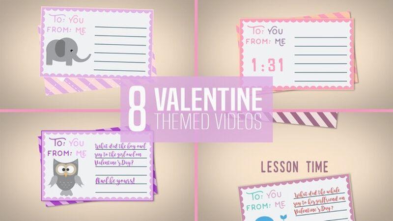 8 Valentine Themed Transition Videos