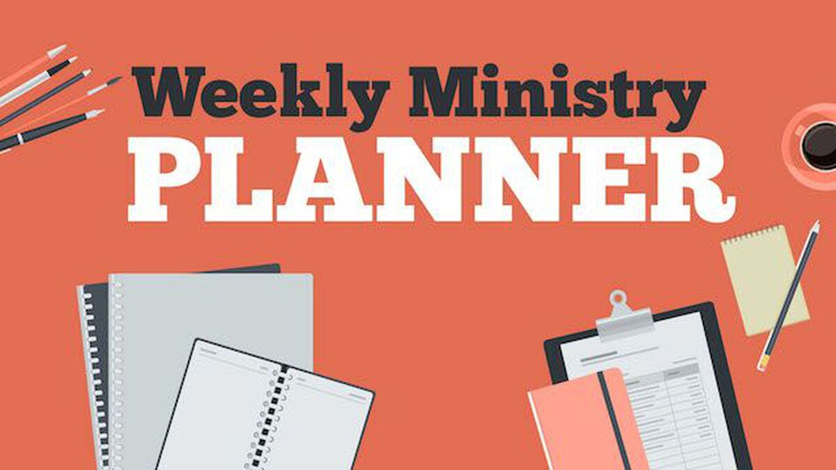Weekly Ministry Planner image number null