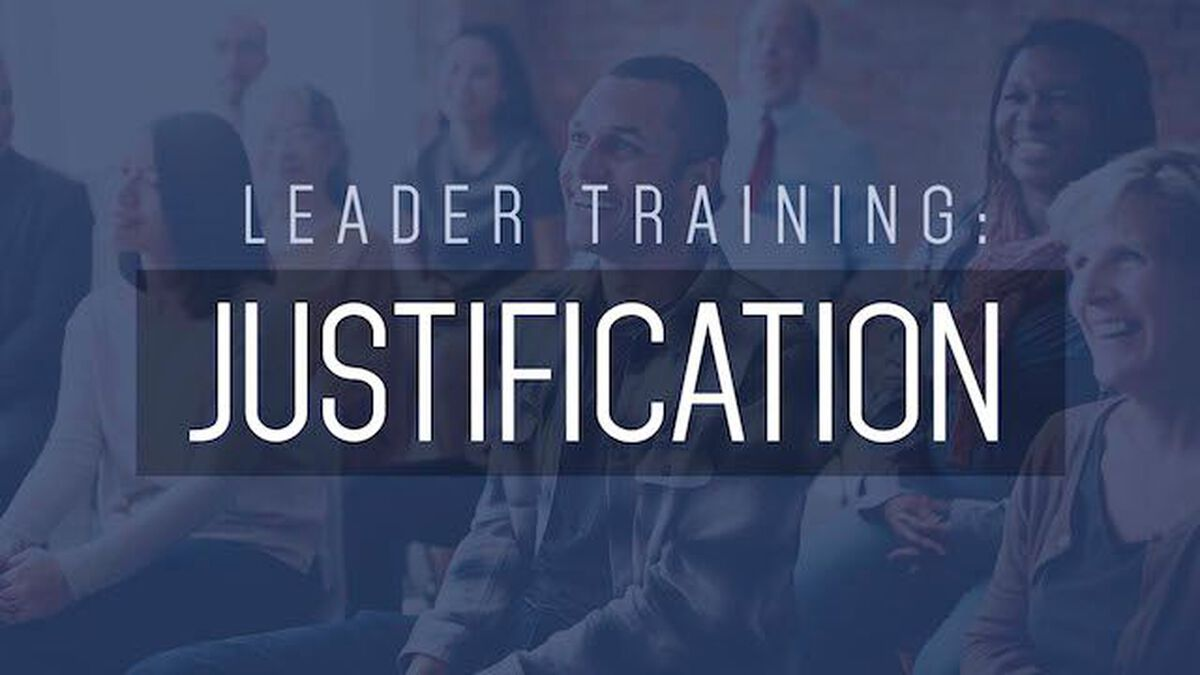 Leader Training: Justification image number null
