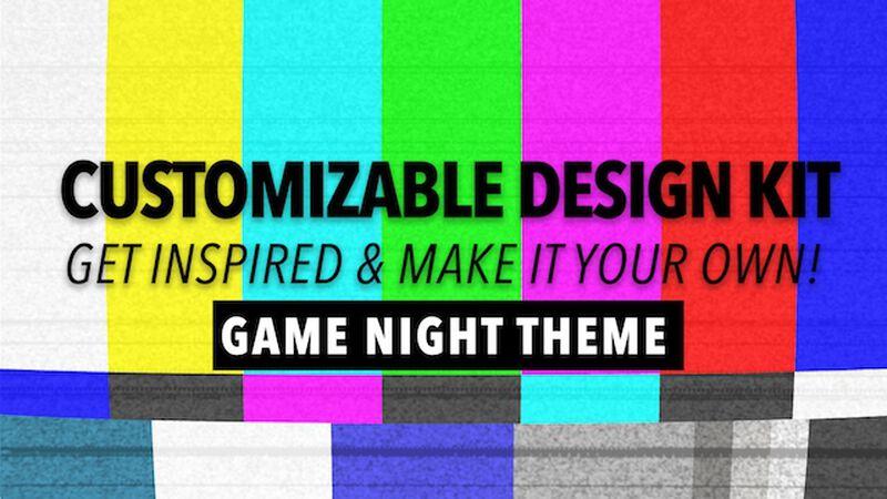 Customizable Design Kit: Game Night