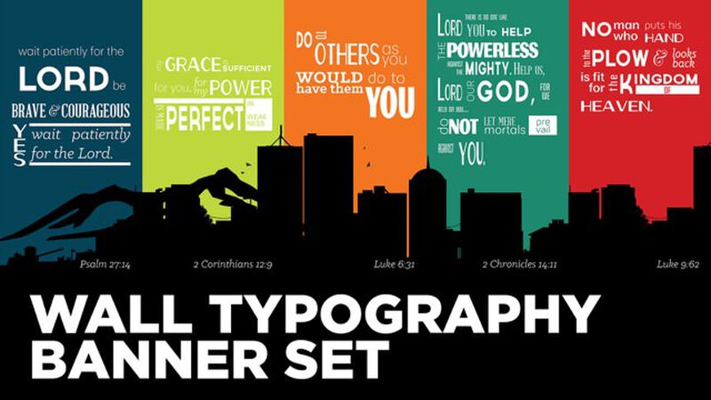 Wall Typography Banner Set