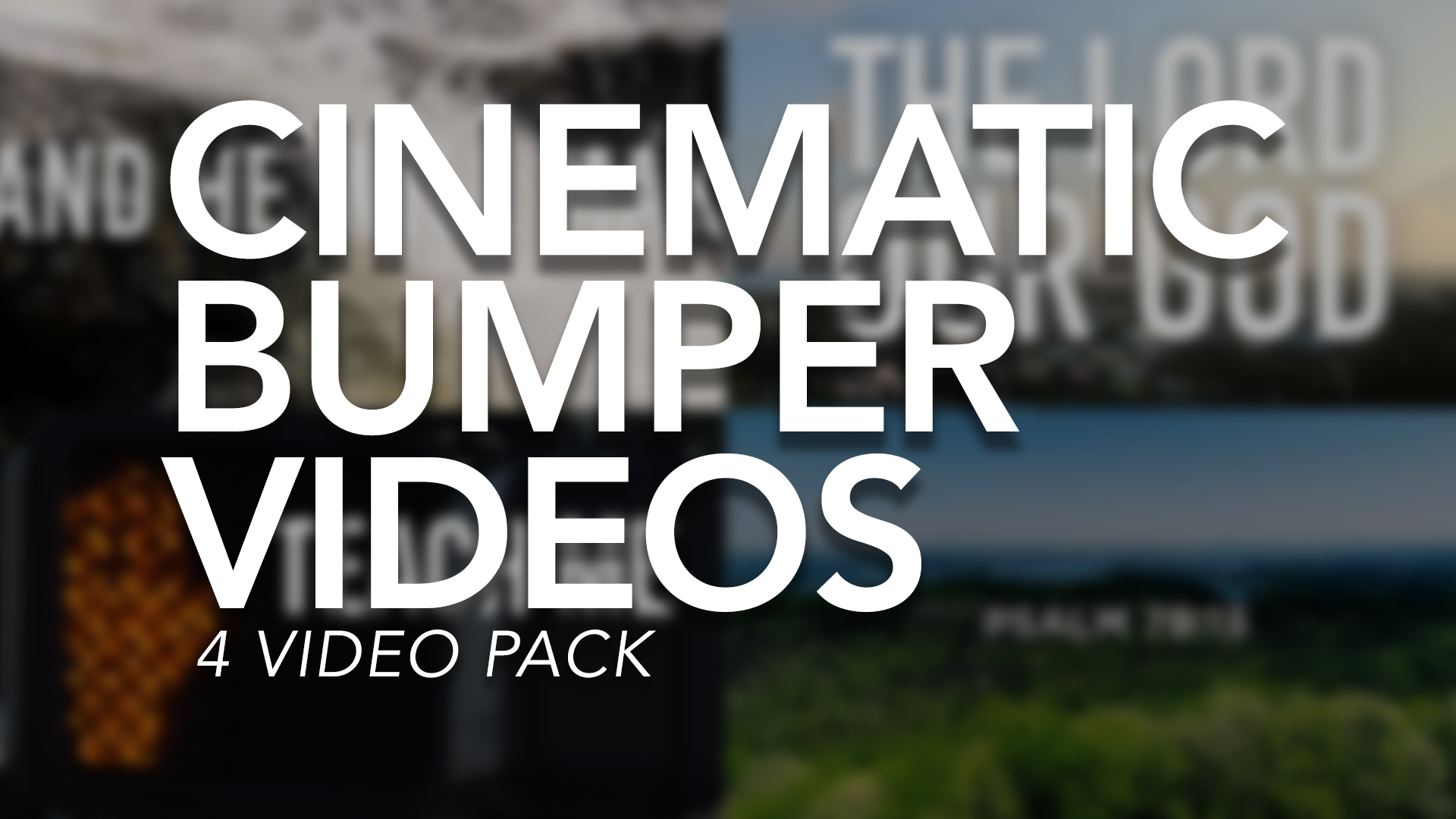 Cinematic Bumper Videos