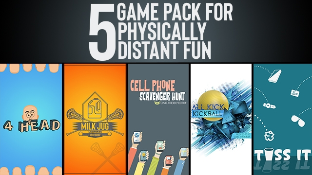 A 5-Game Pack for Physically-Distant Fun