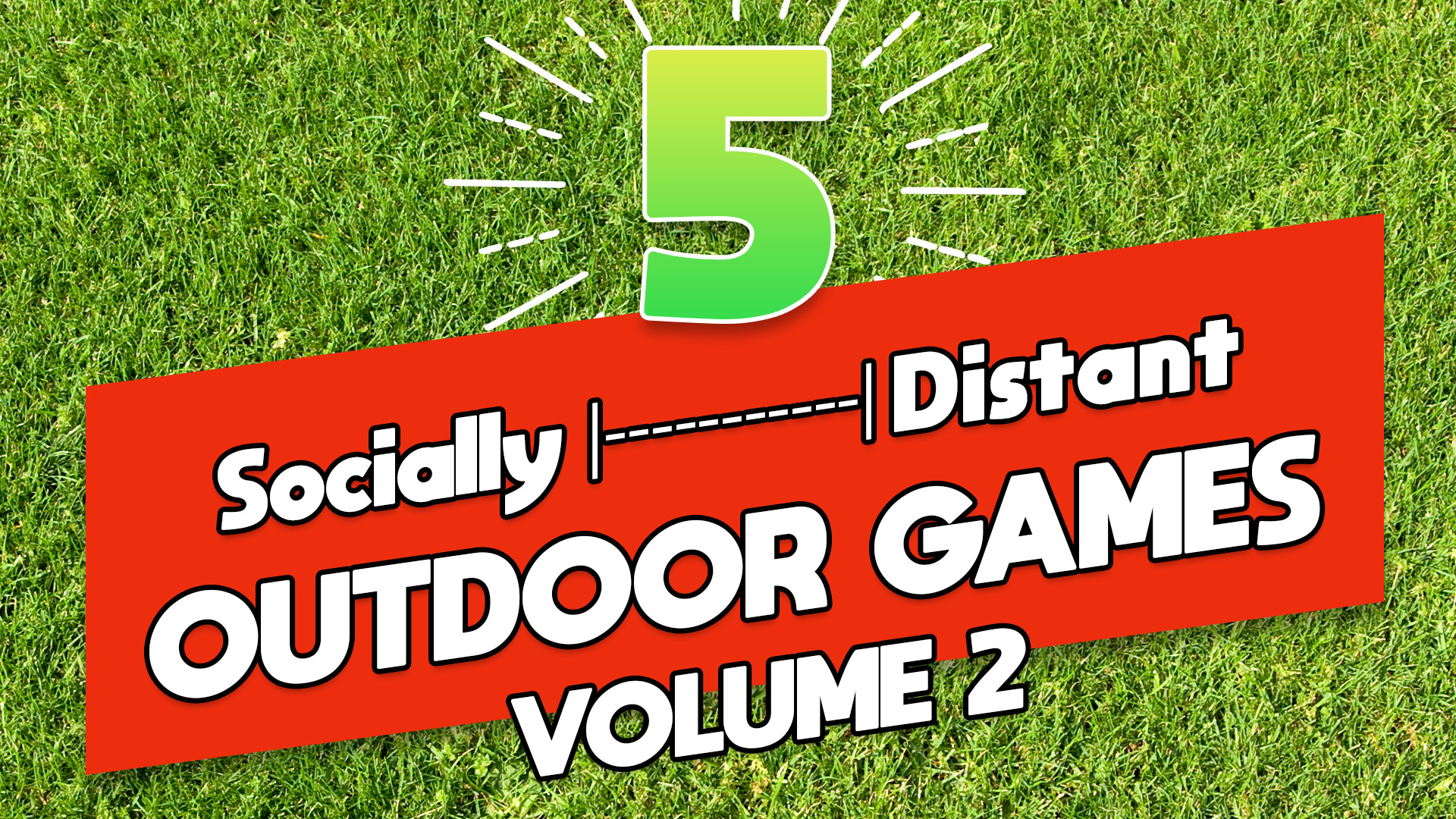 5 Socially Distant Outdoor Games Pack: Volume 2