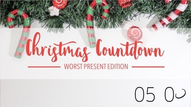 Worst Presents Christmas Countdown Video